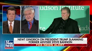 'Trump Governed Without Him': Gingrich Says Bannon Has 'Exaggerated Sense of Self-Importance' - Video