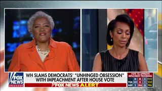 Donna Brazile gets into a spirited exchange with Harris Faulkner over Dems impeachment obsession