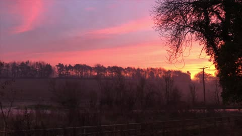 amazing sunrise in essex countryside