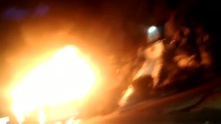 Video: capturados presuntos responsables de incinerar bus en Bogotá
