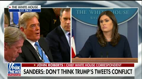 "Sanders: ""There is a flurry of activity at the White House every day."""