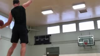 Amazing balance basketball trick shot