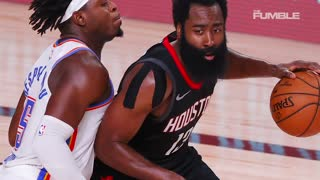 James Harden Knocks Over Hand Sanitizer Station: Pissed Off After Loss Against CP3, Thunder