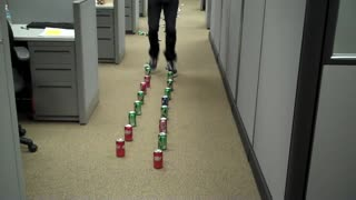 How to Crush Soda Cans Ultra Fast  - Video