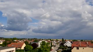 Amazing time-lapse of the movement of clouds in slovakia
