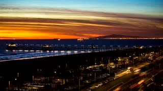 Huntington Beach Time Lapse  - Video