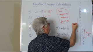 Math Negatives 03 Calculations also called Directed Numbers Mostly for Years/Grade 7, 8 and 9