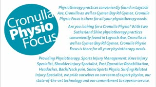 cronulla physiotherapy - Video