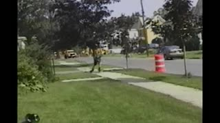 Rollerblading Teen Fails Ramp Stunt And Lands On A Garbage Can - Video
