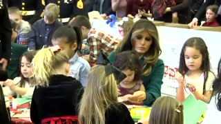 While Everyone Else Rehashes AL Election, First Lady Melania Trump Is All About the Military Kids - Video
