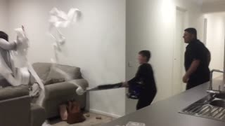 Dad's Epic Toilet Paper Prank