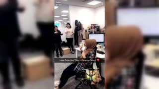 Coworkers Surprises Their Deaf Friend On Her Birthday - Video