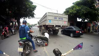 Motorcycle Collision Close Call