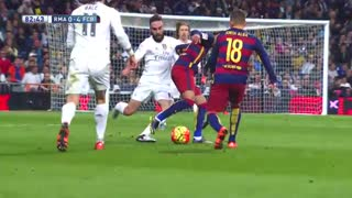 Neymar Humiliates Carvajal and he reply with a tackle - Video