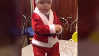 Baby dance in Christmas