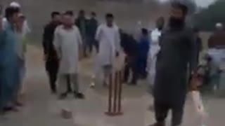 Pakistan test cricketer Muhammad Yousaf playing tenis cricket in kohat Pakistan  - Video