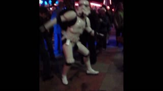 Dancing stormtrooper knows how to party