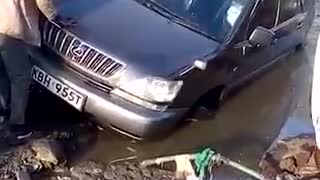 Random Onlooker Falls In A Ditch - Video