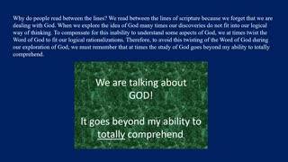 G1 Genesis 1:1, A Viable Way of Thinking? Mindset