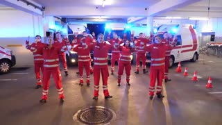 Red Cross Medics In Tik Tok Git Up Dance Challenge