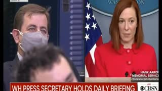 WHITE HOUSE SPOKESLIAR PSAKI RIGHT ON TOP OF THINGS