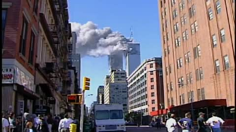 Rare Footage of 9-11 WTC Attack