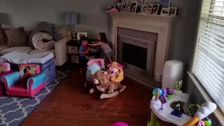 Twins attack daddy