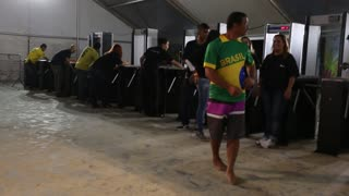 Suspicious turnstile at FIFA Fan Fest in Brazil - Video