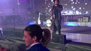 Prince Impersonator Falls Off Stage