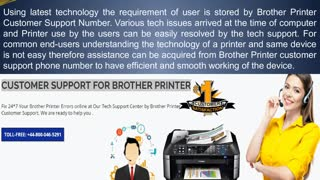 44-800-046-5291 Brother Printer Support Phone Number, Help - Video