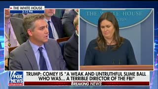 Sanders jabs Jim Acosta over asking follow up question