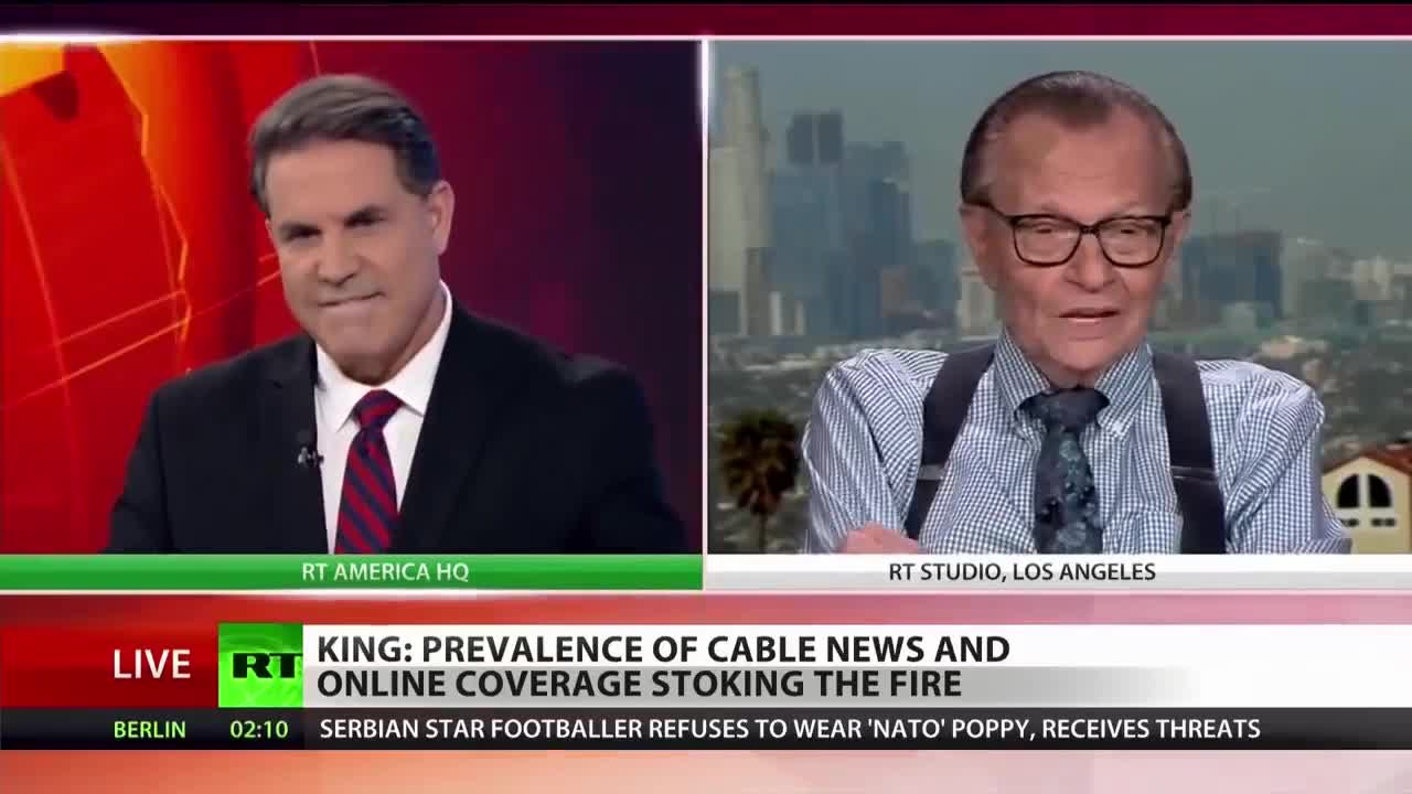 Michael Berry - Larry King: CNN stopped doing news a long time ago, they do Trump.