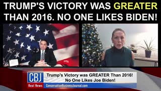 Trump's Victory Was GREATER Than 2016. No One Likes Joe Biden!