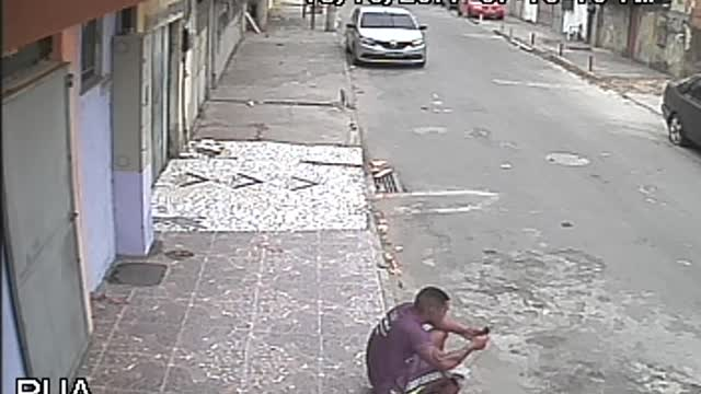 Dog Desperately Needs To Go Potty, Mistakes Man For Fire Hydrant - Video