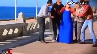 Troll people popping out a grown man - Video