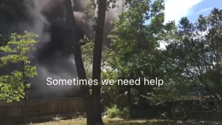 Cloud Angel Assisting Fire Fighters! - Video