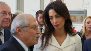 George Clooney's bride tours Greece - Video