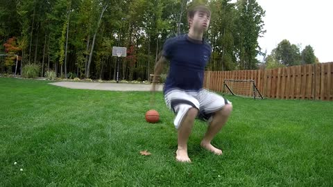 Incredible multi-backflip trick shot