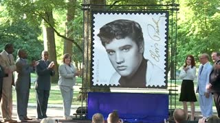 Elvis Presley remembered on 'Forever' stamp - Video
