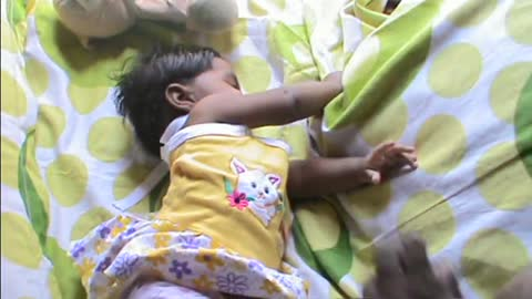Baby Laughing Hysterically at Ripping PaperCute Baby Sleep