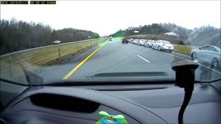 Police officer pulls over five cars for speeding - all at the same time! - Video