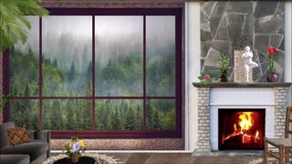 luxury home fireplace and best raindrop views