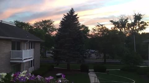 Sunset in time-lapse