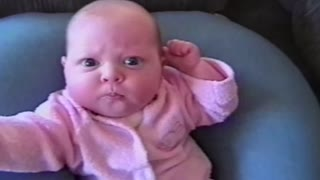 Baby Shows Off Kung Fu Panda Style - Video