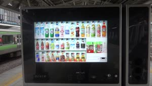 Touch screen vending machine that recommends drinks - Video