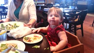 Toddler loves music and eating at same time - Video