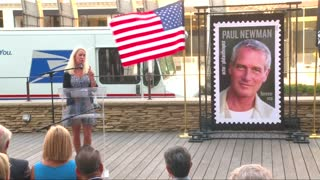 Film legend gets stamp stardom - Video