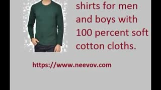 Full Sleeve Navy Colour T Shirts for Men - Video