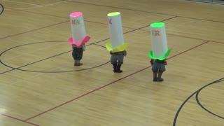 Three Kids Walk Out With Huge Paper Hats, Will Have You In Stitches - Video