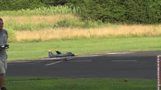 Model Airplane Takes Off - Video